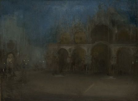 Nocturne, Blue and Gold, St Mark's Venice (oil on canvas)