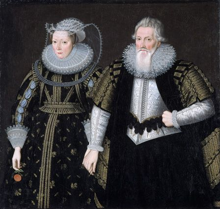 Sir Thomas Mansel (1556-1631) and Jane (Pole) Lady Mansel (oil on canvas)