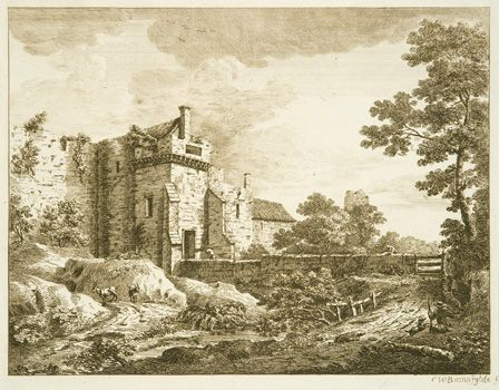 The Old Gate at Southampton, 1763 (etching on paper)