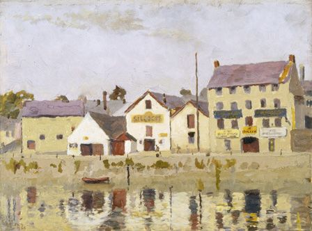 Carmarthen Quay (oil on board)