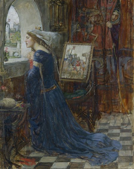 Fair Rosamund, c.1916 (oil on canvas)