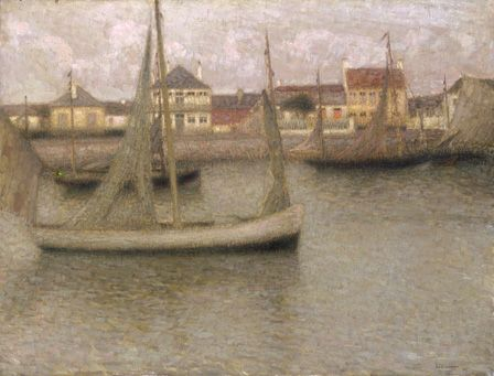 Boats, Heyst, 1900 (oil on canvas)