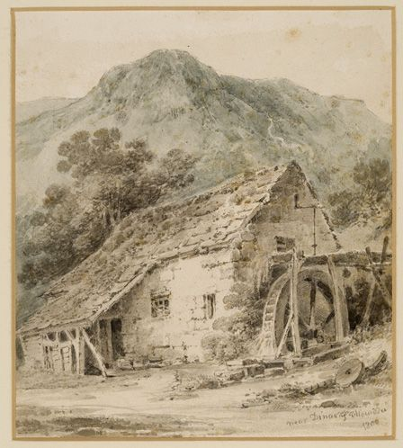 Near Dinas Mawddwy, 1800 (w/c and pencil on paper)