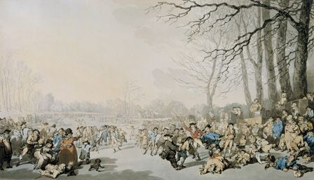 Skaters on the Serpentine, 1784 (w/c, ink and pencil on paper)