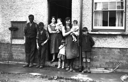 A Miner and his Family (b/w photo)