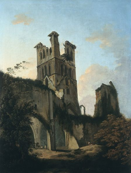 Ruins of Llanthony Abbey (oil on canvas)