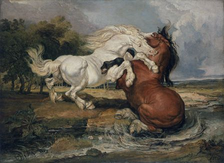 Fighting Horses, 1808 (oil on canvas)