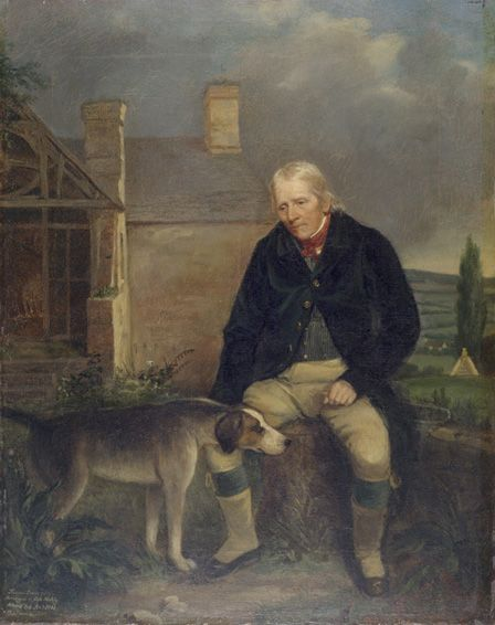 Thomas Lewis, Huntsman of Cefn Mable, aged 84,1841 (oil on canvas)