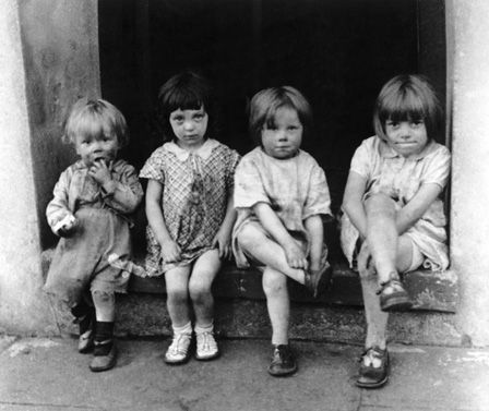 Children in South Wales 1937 (b/w photo)