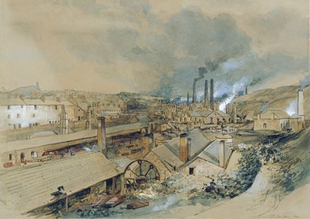 Dowlais Ironworks 1840 (w/c on paper)
