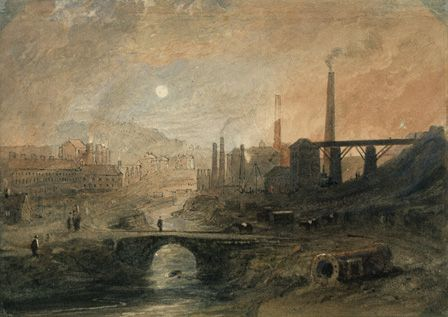 Nantyglo Ironworks, c.1829 (w/c on paper)