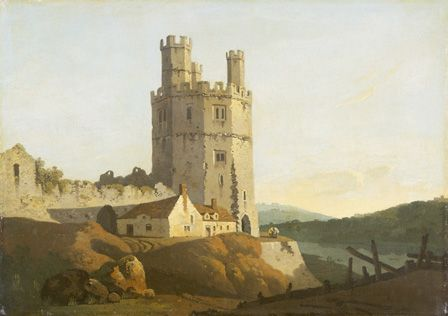 Caernarvon Castle, the eagle tower (oil on canvas)