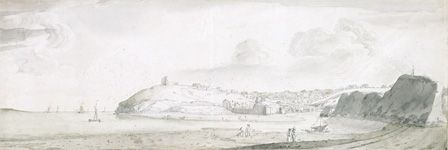Tenby,1678 (pen and ink and wash on paper)