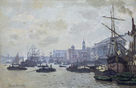 The Thames at London 1871 (oil on canvas)