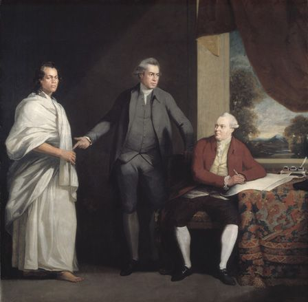 Omai, Jospeh Banks and Dr Daniel Solander c.1775 (oil on canvas)