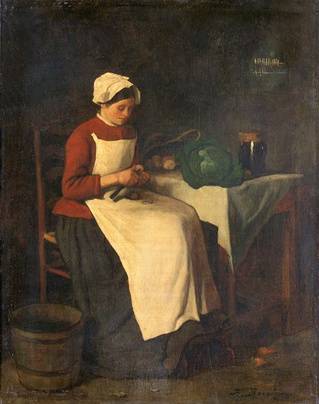 The Young Housewife (oil on canvas)