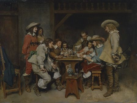 Innocents and Card Sharpers: A Game of Piquet 1861 (oil on board)