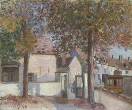 Moret-sur-Loing (Rue de Fosses) 1892 (oil on canvas)