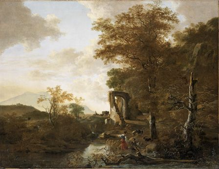 Landscape with Arched Gateway, c.1654 (oil on canvas)