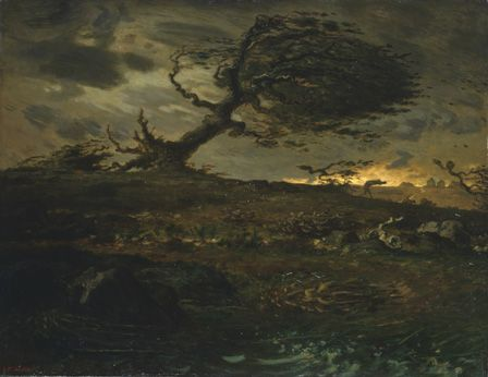 The Gust of Wind, 1871-3 (oil on canvas)