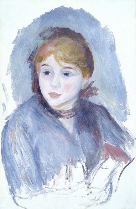 Young Girl in Blue, c.1882 (oil on canvas)