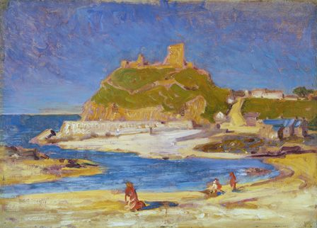 Criccieth Castle (oil on canvas on board)