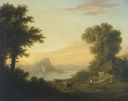 Classical landscape with a river, 1794 (oil on canvas)