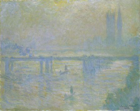 Charing Cross Bridge, 1902 (oil on canvas)