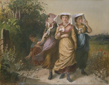 The Bal Maidens (oil on canvas)