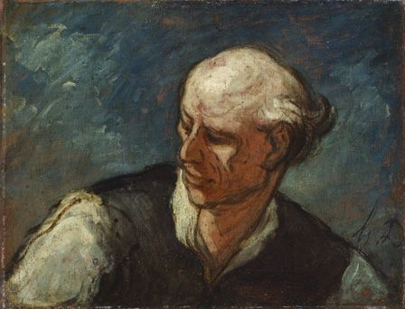 Head of a Man, c.1855 (oil on canvas)