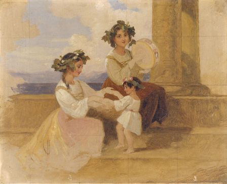 Peasant girls- Sorrento, c.1870 (oil on canvas)
