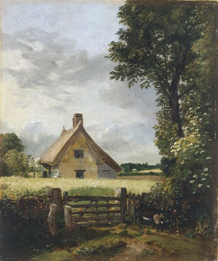 A Cottage in a Cornfield, 1817 (oil on canvas)