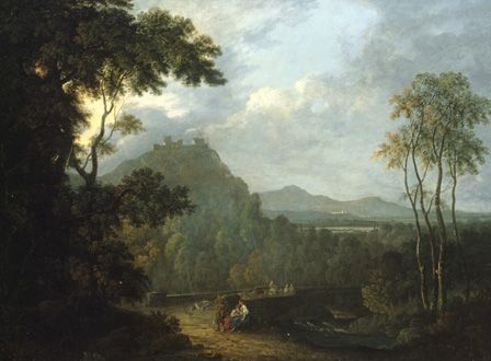 Dinas Bran Castle, near Llangollen II, c.1770 (oil on canvas)