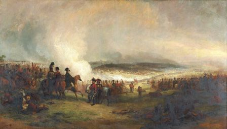 The Battle of Waterloo (oil on canvas)