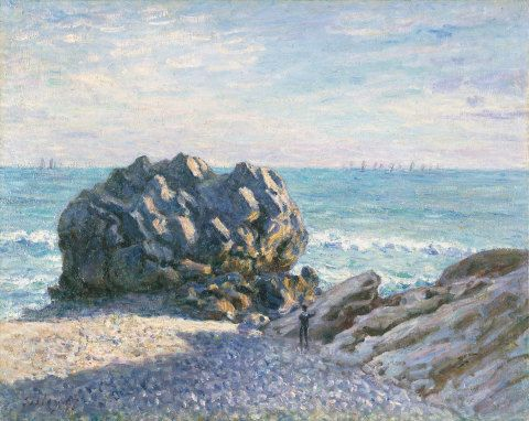 Storr Rock, Lady's Cove, le soir, 1897 (oil on canvas)