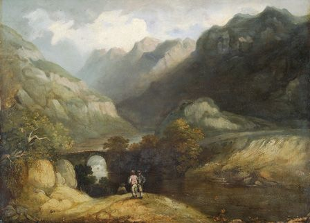 Pont Aberglaslyn, 1809 (oil on canvas)