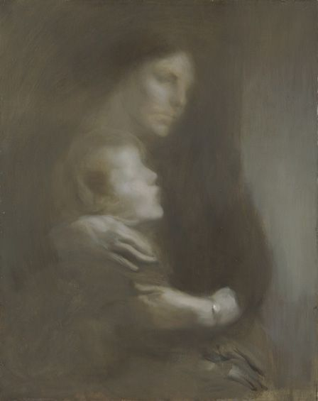Maternity (Suffering) (oil on canvas)