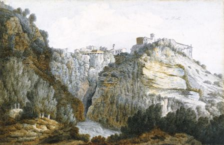 At Tivoli, 1774 (w/c & graphite on paper)
