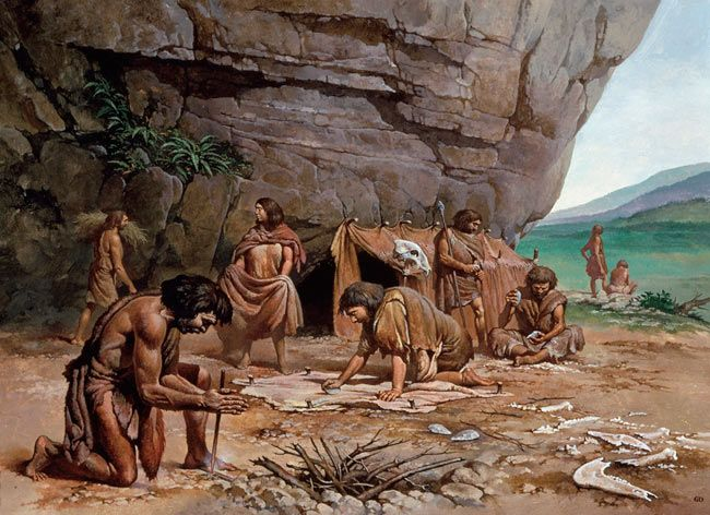 Classic Man Cave Painting : The oldest people in wales neanderthal teeth from