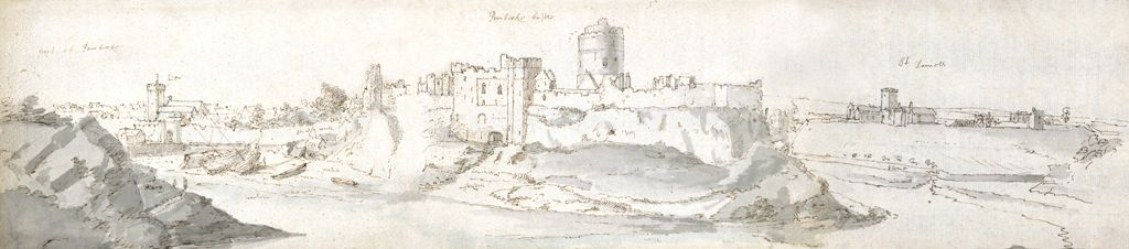Pembroke Castle, c1678 (w/c & brown ink on paper)