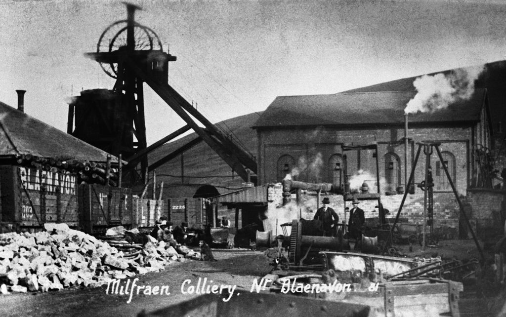 Milfraen colliery, 1923 (b/w photo)