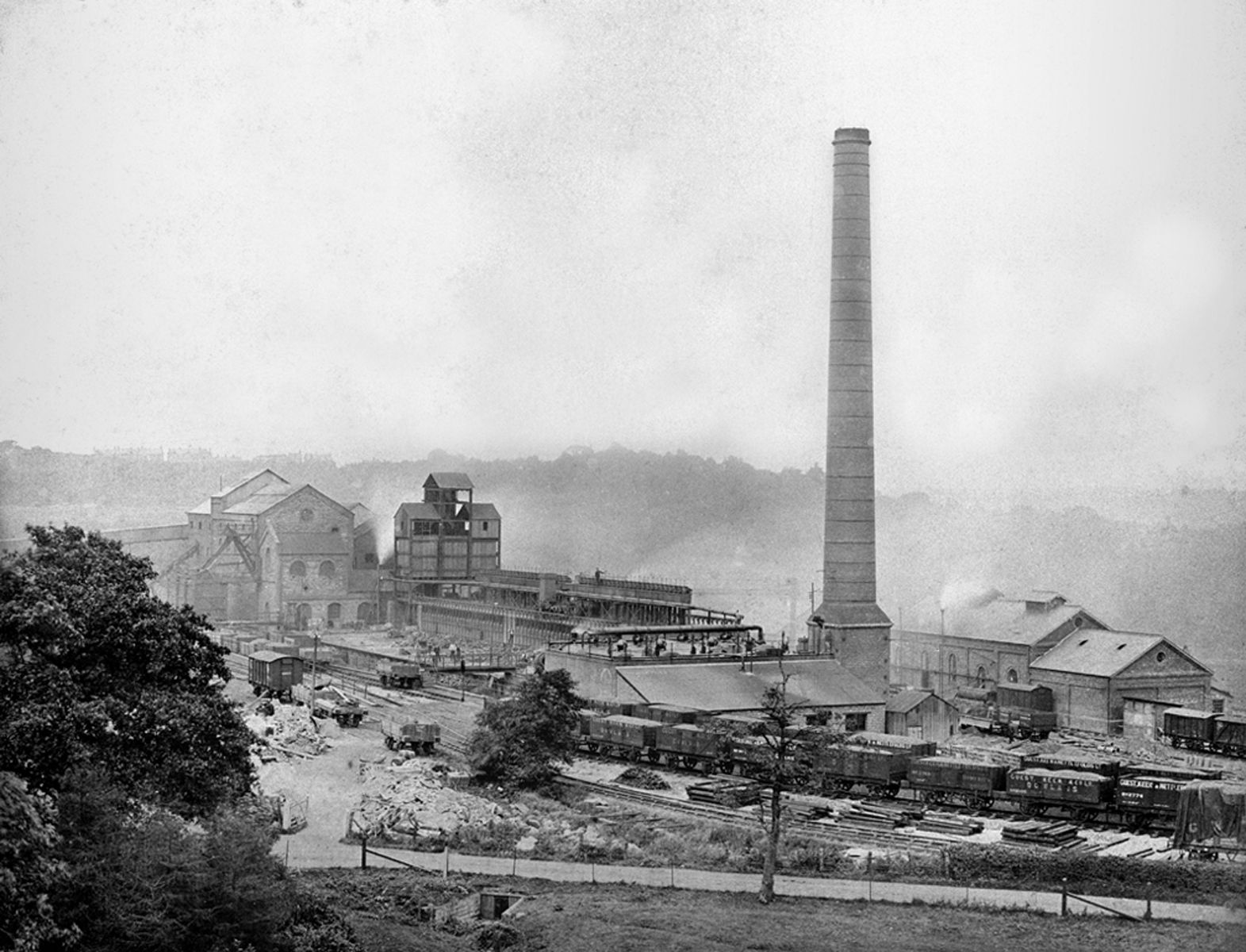 Ebbw Vale steelworks (b/w photo)