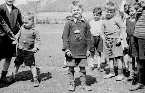 Boy aged 10 Dinas recreation ground, May 1939 (b/w photo)