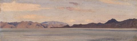 Coast of Asia Minor seen from Rhodes, 1867 (oil on canvas)