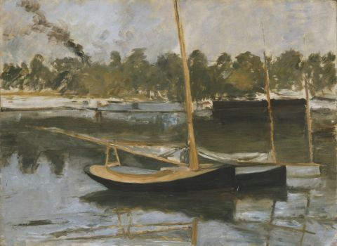 Study of a boat at Argenteuil, 1874 (oil on canvas)