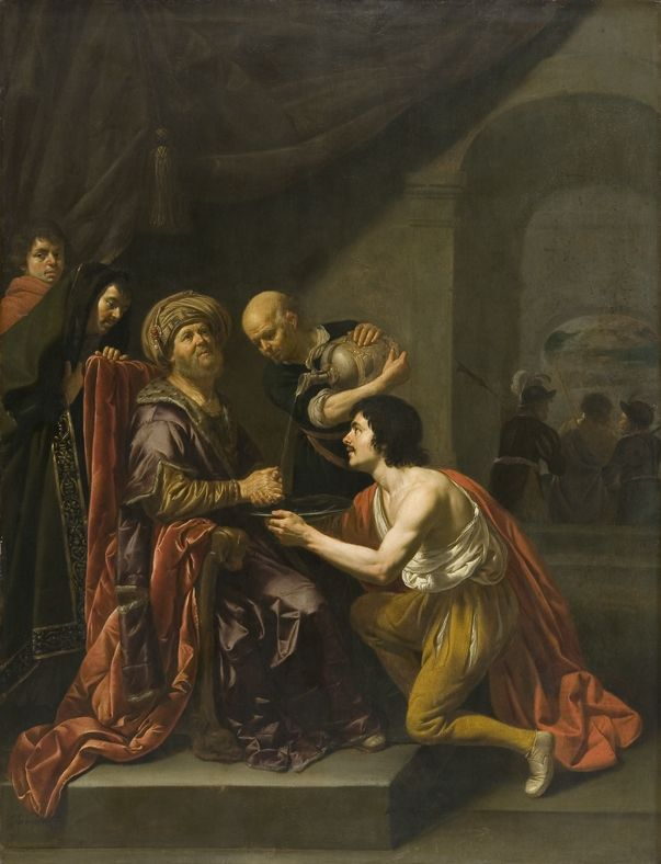 Pilate washing his hands (oil on panel)