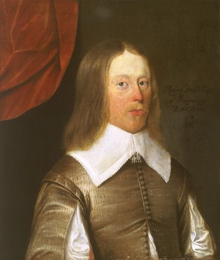 Fig.1: Thomas Leigh, <em>Robert Davies III of Gwysaney</em>, 1643, NMW A 20