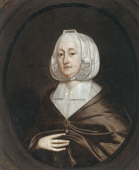 Fig.3: Unknown British artist, <em>Lady Mutton</em>, about 1640, NMW A 3742