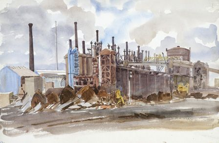 Exterior of East Moors steel works