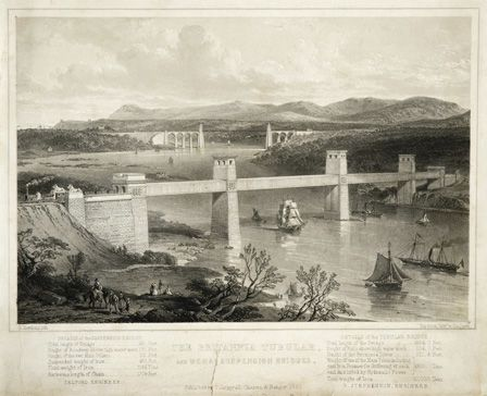 The Britannia Tubular, and Menai Suspension Bridges